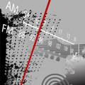 Radio Grunge AM FM Retro Royalty Free Stock Image