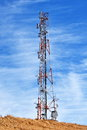 Radio GSM antenna Royalty Free Stock Photo
