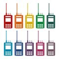 Radio icons set