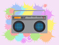 Radio illustration of a cool Royalty Free Stock Images