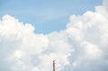 A radio mast with the cloud in background Royalty Free Stock Photo