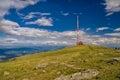 Radio mast in low tatras panoramic view of on kráľova hoľa mountain Royalty Free Stock Photography