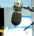 Radio microphone  Stock Image