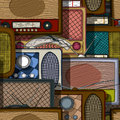 Radio pattern seamless design with vintage Stock Photos