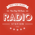 Radio poster retro for pop music Royalty Free Stock Images