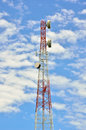Radio Relay Link, Mobile Base Station Stock Photography