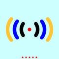 Radio signal it is color icon .