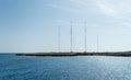 Radio Station, Cape Greco, Cyprus Royalty Free Stock Photo