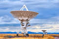 Radio telescope antenna dishes of the very large array in new mexico searching for yesterday Stock Photography