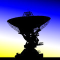 Radio telescope astronomy communication cosmos Royalty Free Stock Photo
