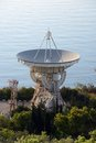 Radio telescope on crimea beach Stock Photography