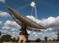 Radio telescope a near parkes in new south wales australia Royalty Free Stock Images