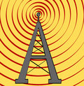 Radio tower background Royalty Free Stock Photography