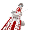 Radio tower isolated on white background Royalty Free Stock Images