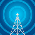 Radio tower shape Royalty Free Stock Photo