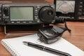Radio transceiver. Royalty Free Stock Photo