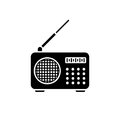 Radio vector icon Royalty Free Stock Photo