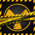 Radioactive caution a warning for zone Royalty Free Stock Photo