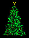 Radioactive Christmas tree Stock Image