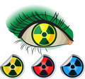 Radioactive ikons Royalty Free Stock Image
