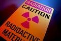 Radioactive materials sign Royalty Free Stock Photo