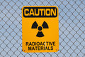 Radioactive Materials Sign Royalty Free Stock Photography