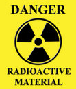 Radioactive Sign Yellow Stock Images