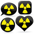 Radioactive Signs Royalty Free Stock Photo