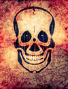 Radioactive skull Royalty Free Stock Images