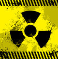 Radioactive symbol yellow and nuclear power Royalty Free Stock Photos