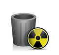 Radioactive trash illustration design over a white background Royalty Free Stock Photos