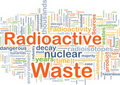 Radioactive waste background concept Royalty Free Stock Images