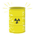 Radioactive waste illustration of a dangerous nuclear barrel isolated on white background Stock Photography