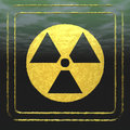 Radioactivity digital illustration of a signal Stock Image
