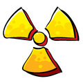 Radioactivity sign Royalty Free Stock Image
