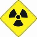 Radioactivity toxic zone symbol sign