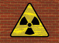 Radioactivity trefoil sign Stock Images