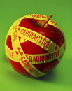 Radioaktiver Apple Stockfoto