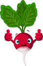Radish Character  giving thumbs up Stock Image