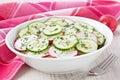 Radish cucumber salad Royalty Free Stock Photo