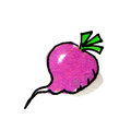Radish Illustration Royalty Free Stock Photo