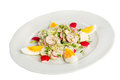 Radish salad with egg Stock Images