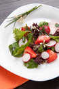 Radish Strawberry salad Stock Images