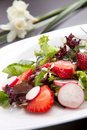 Radish Strawberry salad Royalty Free Stock Photos