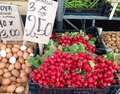 Radishes fresh cut at the market Royalty Free Stock Image