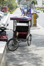 Raditional rikshaw transport on streets in south china Royalty Free Stock Photos