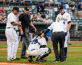 Radley haddad injured hand riverdogs catcher takes a foul ball off of his bare the injury turned out to be a fracture which Stock Images