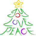 Radości, miłości pokoju drzewo Zdjęcie Royalty Free