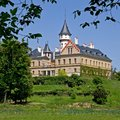 Radun czech republic castle is situated in north of Stock Photos