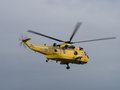 Raf air sea rescue sea king helicopter duxford uk may rd an flying at duxford ve day airshow Royalty Free Stock Image